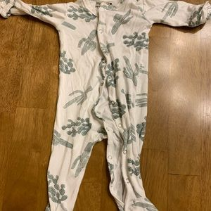 Spearmint baby footed cactus romper